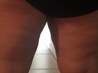 back of legs open